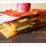 Recette du Millefeuille de légumes une entrée crue et fraîche avec des légumes bio
