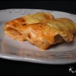 Recette Italienne des cannellonis à la viande ou aux légumes bio avec une sauce béchamel à la sauce tomate