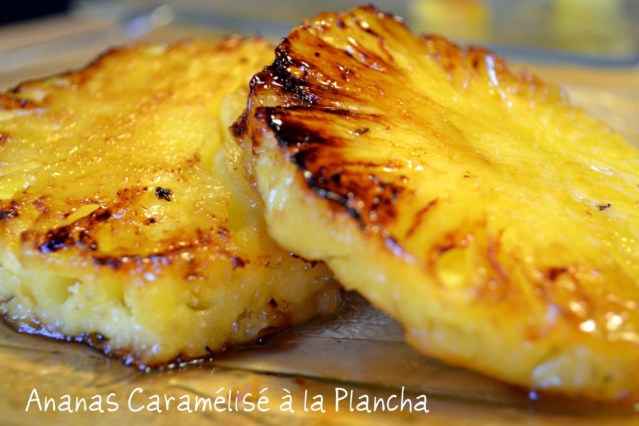 Ananas caram lis la plancha recette de cuisine for Cuisine 0 la plancha