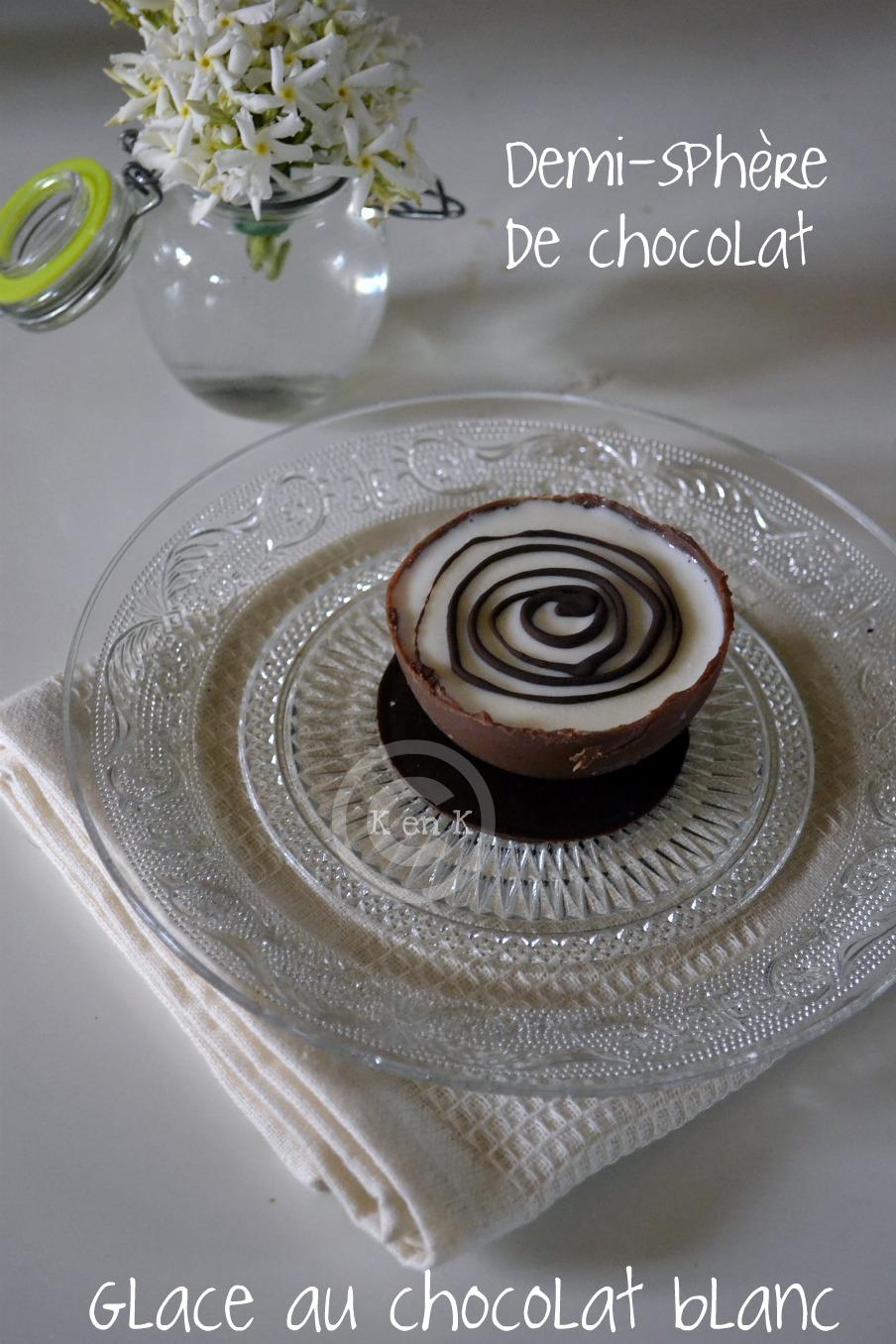Demi Sphere Chocolat A La Glace Au Chocolat Blanc