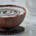 Recette des demi-sphère au chocolat à la glace au chocolat blanc