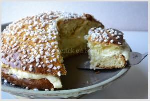 Recette de la Tarte Tropézienne avec une crème pâtissière allégée - Menu Paques