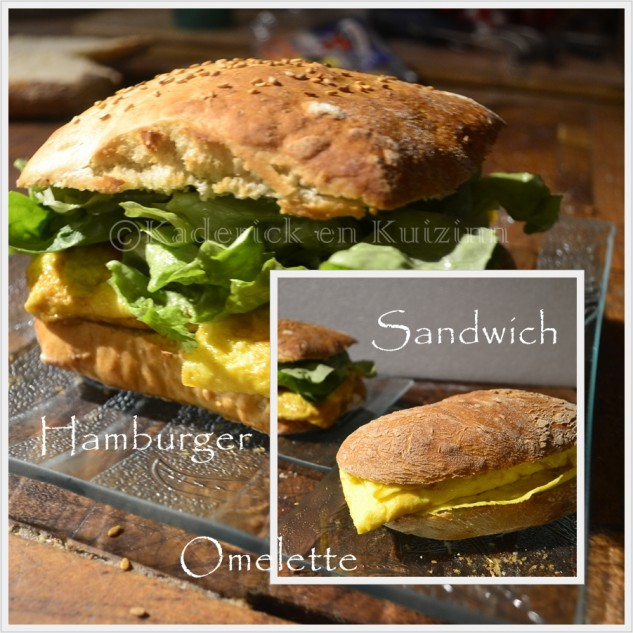 Recette Hamburger ou Sandwich  l'omelette pour le thme du mois de mars de Culino Versions