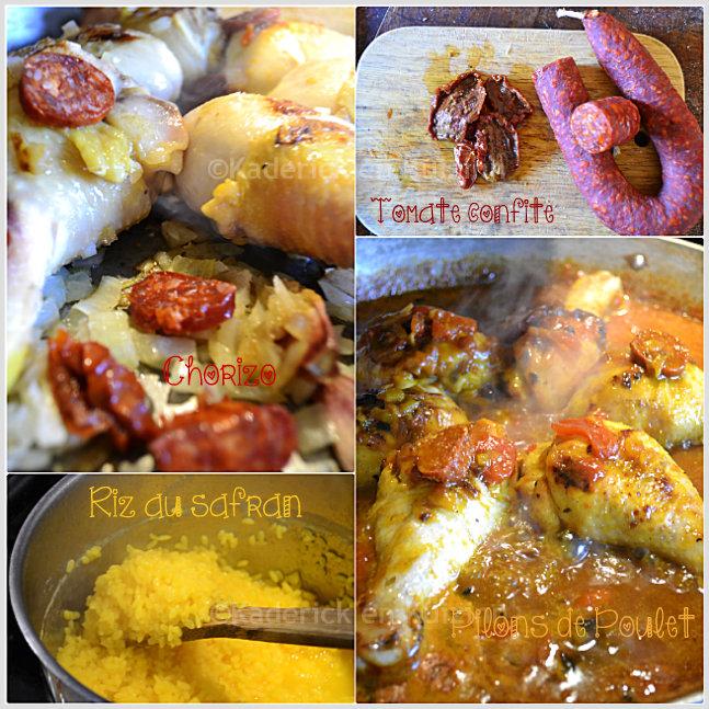 Poulet tomates la plancha cuisine espagnole kaderick - Pilon de poulet a la poele ...