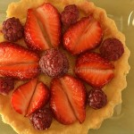 Recette tartelette amandine fraise framboise bio pour Culino Versions du mois de juillet