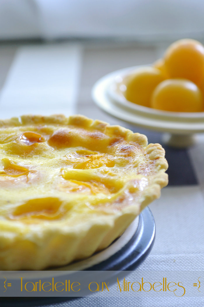 Recette facile de tartelette aux mirabelles bio et crme ptissire - Kaderick en Kuizinn