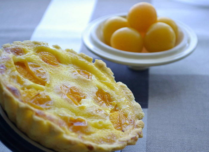 Recette de tartelette aux mirabelles bio et crme - Kaderick en Kuizinn
