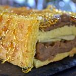 Recette buche de Noël aux poires, crème de marron et fil de caramel - Kaderick en Kuizinn©2012