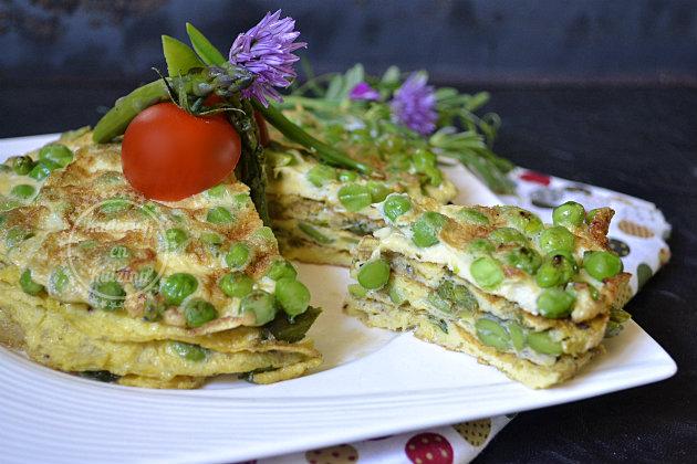 Recette légumes de printemps bio en omelette