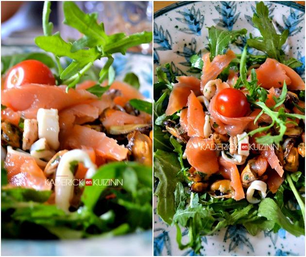 salade mer salade ti de saumon fruits de mer la plancha. Black Bedroom Furniture Sets. Home Design Ideas