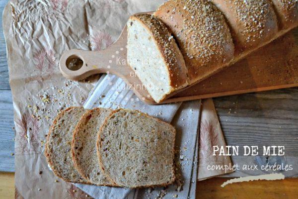 Pain complet recette saine du pain de mie aux 5 c r ales bio - Recette petit dejeuner sain ...