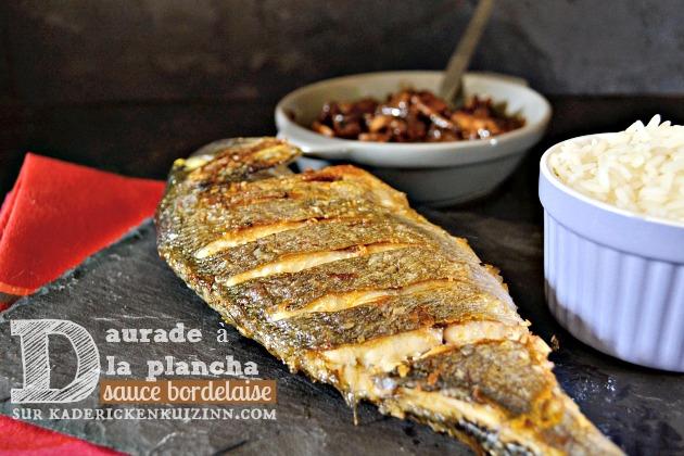 Daurade plancha ou dorade grill e plancha sauce bordelaise for Poisson a la plancha