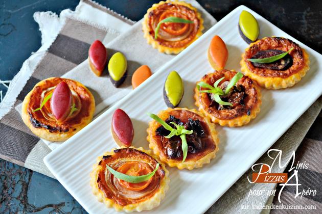 minis tartelettes pizzas au pesto de poivrons pour l 39 ap ro. Black Bedroom Furniture Sets. Home Design Ideas