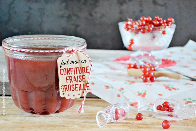 Confiture fait maison – Confiture fraises et groseilles bio