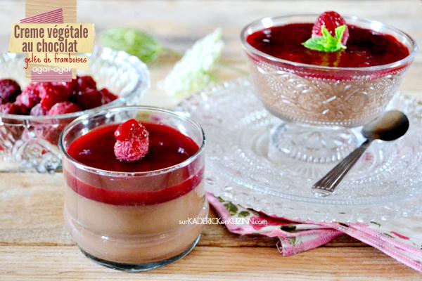 Creme dessert - Creme végétale au chocolat noir et framboise
