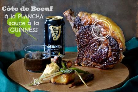 Recette cote plancha - Côte boeuf plancha sauce Guinness chez Kaderick en Kuizinn