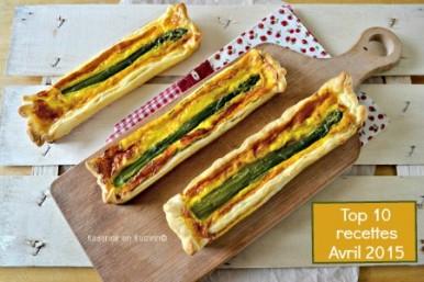 Avril 2015 Top 10 tarte feuilletée asperges vertes