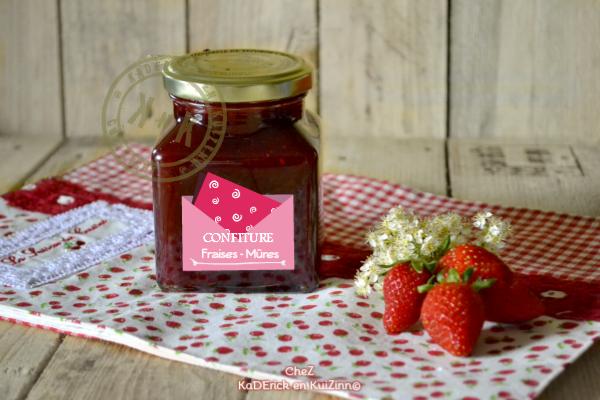 Recette confiture - Confiture fraises et mûres sauvages chez Kaderick ...