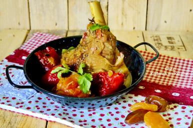 Recette souris agneau vapeur sucré-salé fruits Omnicuiseur chez Kaderick en Kuizinn