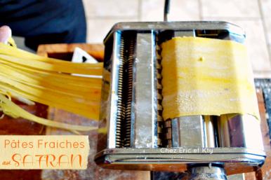 Recette pates fraiches - Recette pates fraiches au safran chez Kaderick en Kuizinn