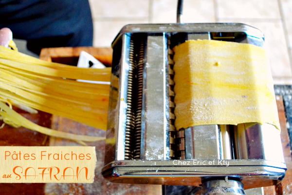Recette pates fraiches au safran pour des tagliatelles fait maison