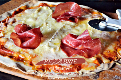 Recette pizza brie - Recette fait maison pizza brie et bresaola chez Kaderick