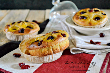Recette Mirabelle - Madeleine noisette mirabelles cranberries chez Kaderick en Kuizinn