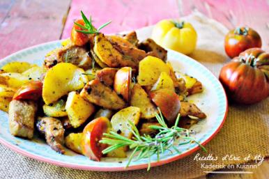 Recette sauté porc - Porc mariné citron romarin plancha Eno chez Kaderick en Kuizinn