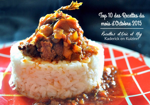 Octobre 2015 – Top 10 recettes du mois d'Octobre 2015 chez Kaderick