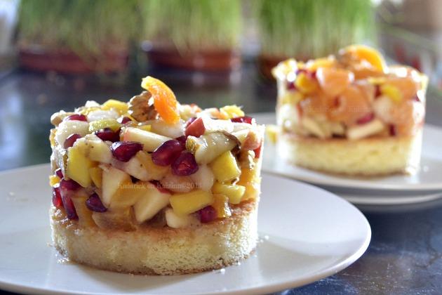 salade fruits frais sur une g 233 noise recette de cuisine